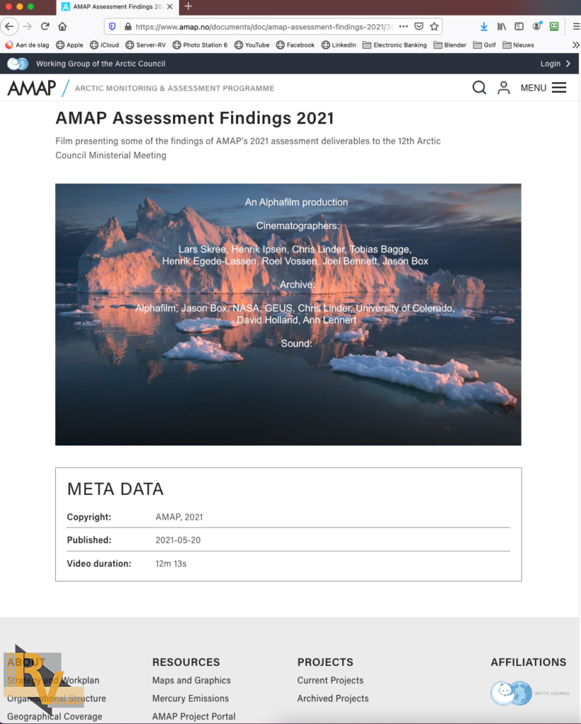 AMAP webpage